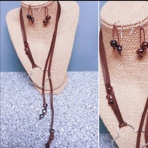 Handmade by me- necklace and earring set